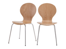 2 x Kitsch Dining Chairs, Ash