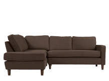 Lugano Left Hand Facing Corner Sofa Group, Mocha Brown