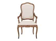 Marie Dining Chair, Natural Ash and Nougat Beige Cotton Mix