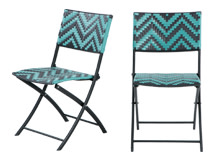 2 x Maui Outdoor Bistro Chairs, Teal