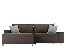 Mayne Left Hand Facing Corner Sofa Bed, Dark Grey