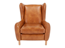 Rubens Wingback Armchair, Toffee Brown
