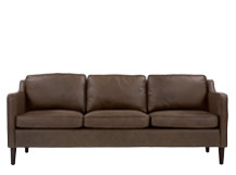 Walken 3 Seater Sofa, Saddle Tan Premium Leather