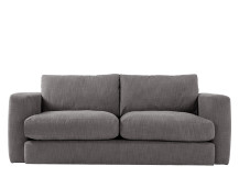 Walter 3 seater sofa, Nickel