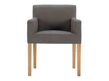 Wilton Carver Dining Chair, Graphite Grey and Oak