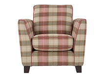 Wolseley Armchair, Beige Plaid