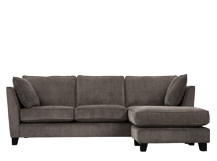 Wolseley Large Corner Sofa, Mid Grey Corduroy