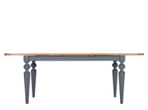 Betty Extending Dining Table, Oak and Grey