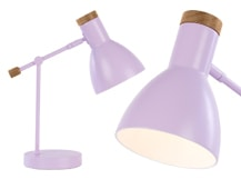 Cohen Bedside Table Lamp, Lilac