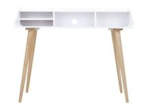 Esme Desk,  White and Ash