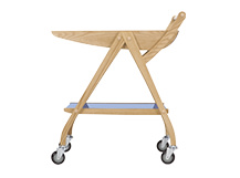 Fonteyn Drinks Trolley, Oak and Blue