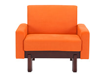 Hoye Armchair, Sunset Orange