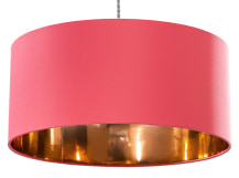 Hue Pendant Shade, Coral and Copper