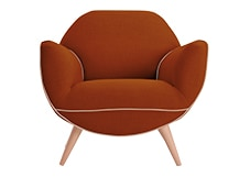 Juno Armchair, Burnt Orange