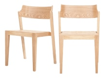 2 x Kito Curved Back Dining Chair, Oak