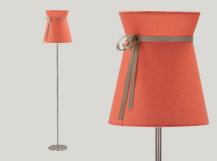 Madame Floor Lamp, Peach and Taupe