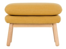 Oslo Footstool , Yolk Yellow