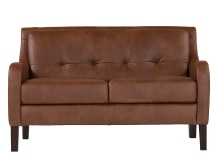 Isaac 2 Seater sofa, Cognac Premium Leather