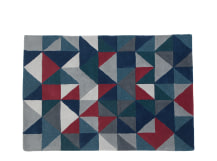 Henrik Hand Tufted Rug 160 x 230cm, Grey and Red Multi
