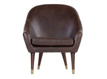 Seattle Armchair, Oxford Brown Premium Leather