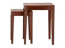 2 x Twain Nesting Tables, Dark Stain Elm