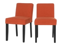 2 x Wilton Dining Chairs, Retro Orange and Birch Black