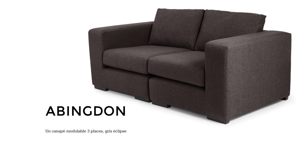 Abingdon, un canapé modulable 3 places en gris éclipse | made.com