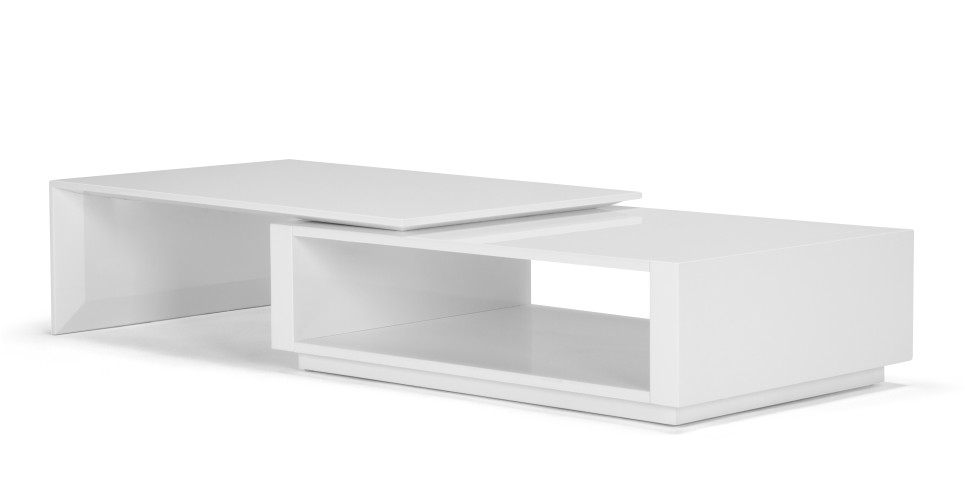 bramante table basse extensible blanc. Black Bedroom Furniture Sets. Home Design Ideas