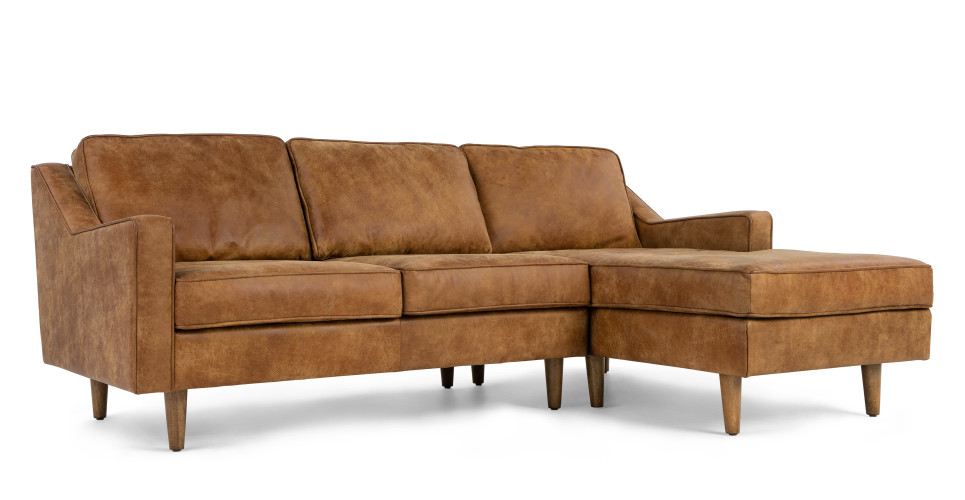 Dallas right hand facing chaise end sofa outback tan for Chaise end sofa uk
