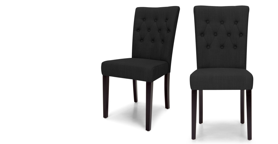 2 x flynn chaises noir d 39 encre. Black Bedroom Furniture Sets. Home Design Ideas