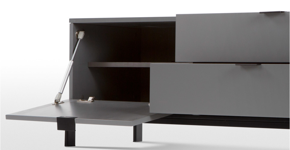 marcell tv bank grau. Black Bedroom Furniture Sets. Home Design Ideas