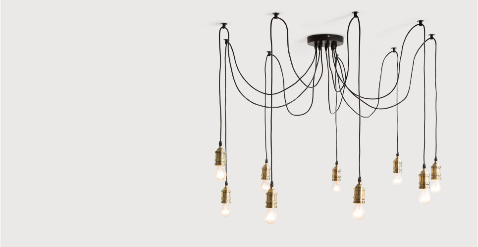 Starkey, un chandelier, laiton | made.com