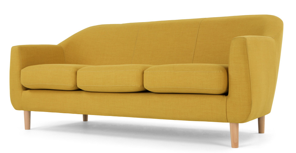 tubby 3 seater sofa retro yellow. Black Bedroom Furniture Sets. Home Design Ideas