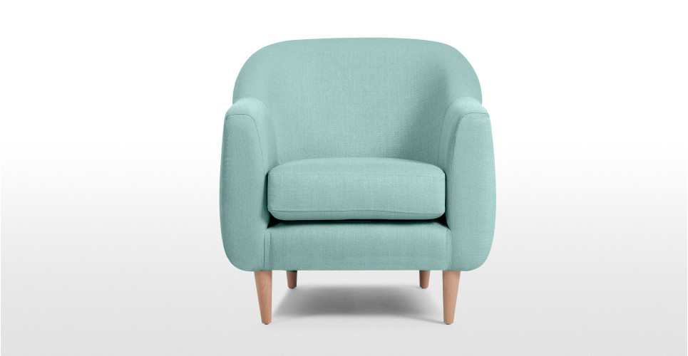 tubby un fauteuil bleu turquoise. Black Bedroom Furniture Sets. Home Design Ideas