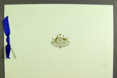The covers of the Christmas cards are remarkably consistent. Museum of Australian Democracy Collection.