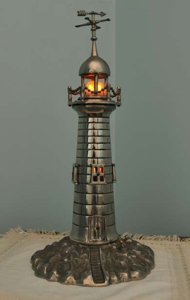 Metal lighthouse owned by Ben Chifley