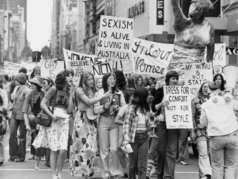 International Women's Day march Melbourne 1975