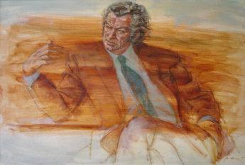Louis Kahan's 1975 portrait of Bob Hawke. Museum of Australian Democracy Collection.