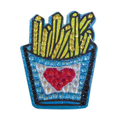 Picture of Love Fries Rhinestone Decal
