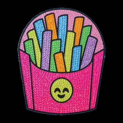 Picture of Emoji Fries Rhinestone Decals