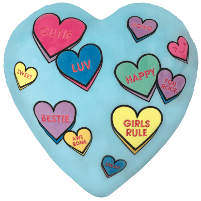 Picture of Candy Hearts Scented Embroidered Pillow