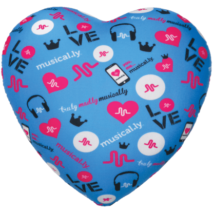 Picture of Musical.ly™ Heart Microbead Pillow