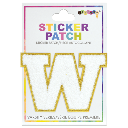 Picture of W Initial Varsity Sticker Patch