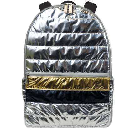Picture of Silver and Gold Puffer Backpack