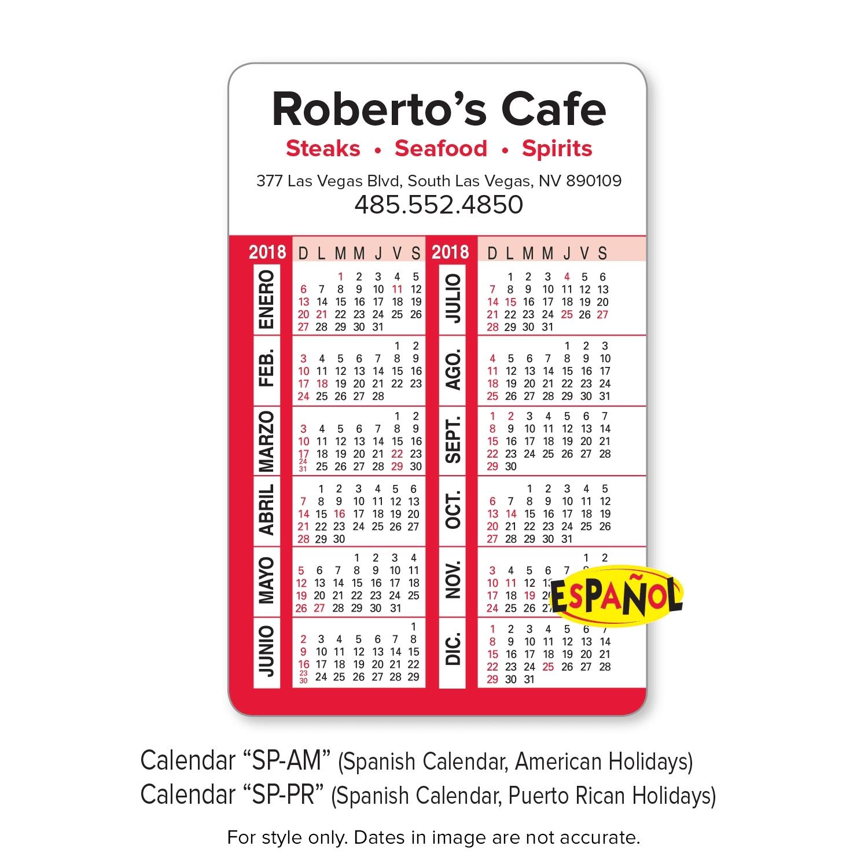 Enduraline   Calendar and Business Card Wallet Cards