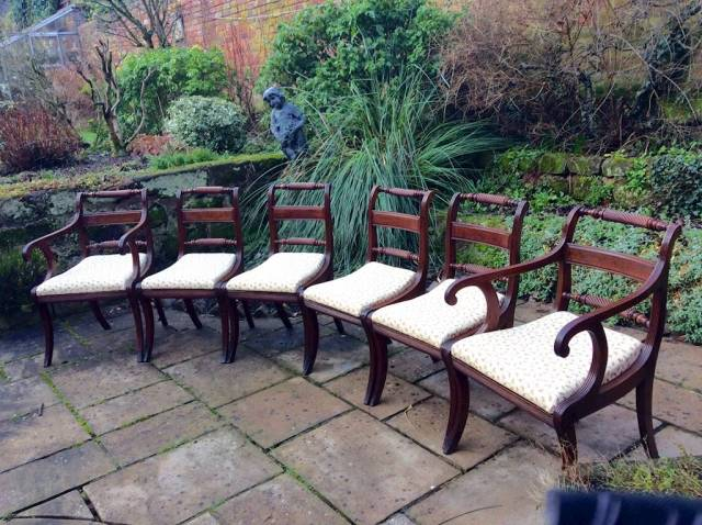 Set of Regency Dining chairs