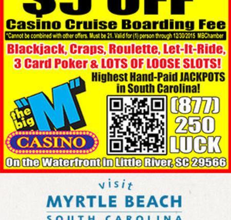 "Big ""M"" Casino - $5 Off Casino Cruise Boarding Fee"