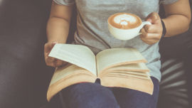 Coffee and a book, what could be better? (Image: Shutterstock).