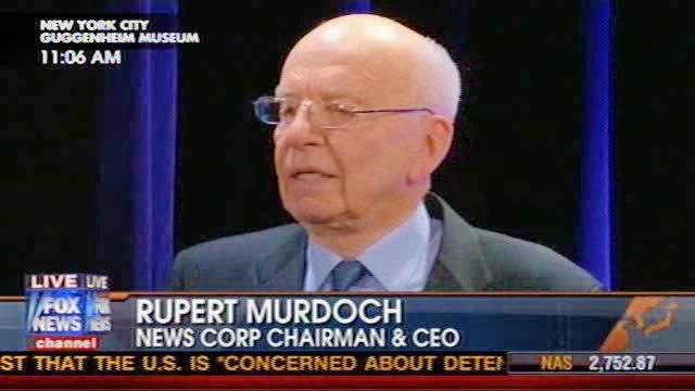 Media tycoon Rupert Murdoch .