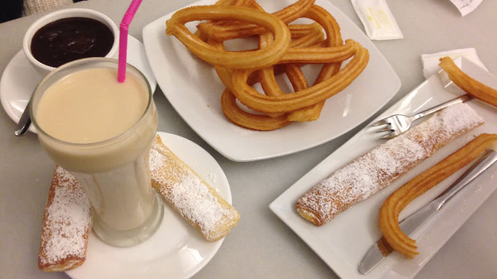 Churros are a yes, horchata, not so much.